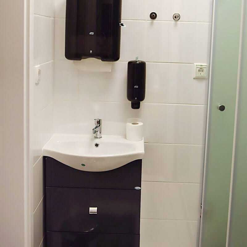 Páciens fürdőszoba
